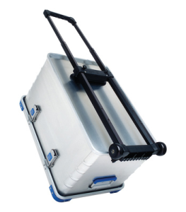 Hjulsett m håndtak for aluminiumskasser