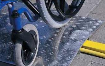 Terskelbroer og kantbroer - rullestol